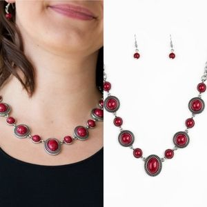 Red paparazzi necklace